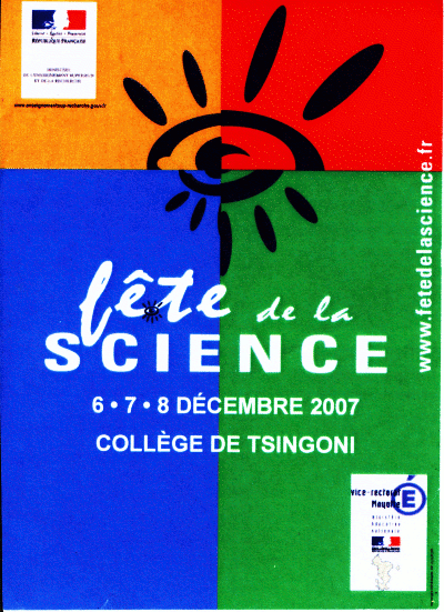 flyer fête de la science 2007 Mayotte